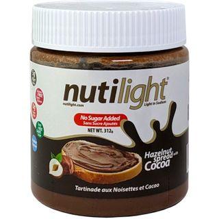 NUTILIGHT HAZELNUT SPREAD WITH COCOA 312G