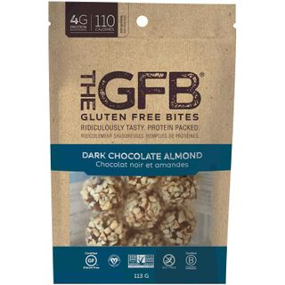 THE GFB BITES DARK CHOCOLATE ALMOND 113G
