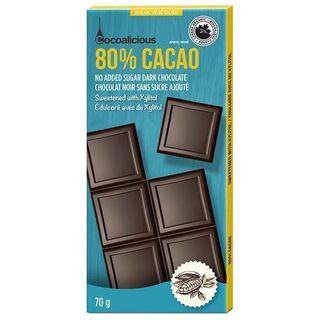 COCOALICIOUS DARK 80% COCOA 70G CTN10