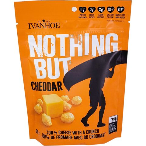 Ivanhoe Nothing But Cheese Shelf-Stable Cheese Snacks in Stand-Up Pouches