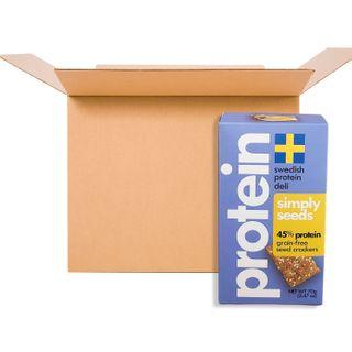 SWEDISH PROTEIN DELI GF VEGAN CRACKER SIMPLY SEEDS 70G CS10