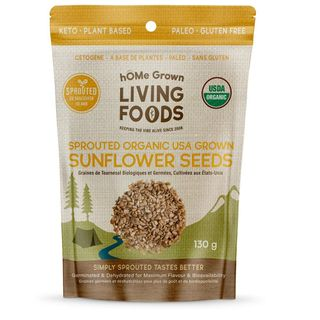 HG SPROUTED SEEDS ORGNC SUNFLOWER 130G