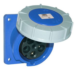 POWER TWIST FLANGED SOCKET SLOPING 63A 3P 230V