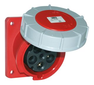 POWER TWIST FLANGED SOCKET-SLOPING 125A 5P 400V