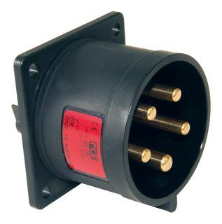 FLANGED PLUG STR 32A 5P 400V