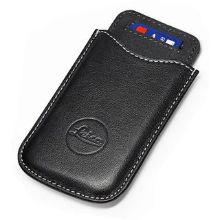 LEICA SD & CREDIT CARD HOLDER LEATHR BLK