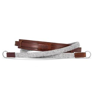 LEICA NECK STRAP LEATHER/FABRIC GREY