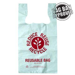 LARGE REUSABLE SINGLET BAGS (100/PKT)