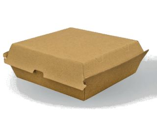 PAPER BOARD DINNER BOX 178x160x80mm (150