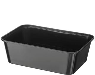 1000ml BLACK PLASTIC CONTAINERS (50)