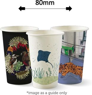 12oz SINGLE WALL ART CUPS (1000) 80MM