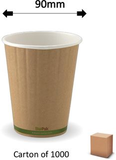 12oz GREEN STRIPE DOUBLE WALL CUPS (1000