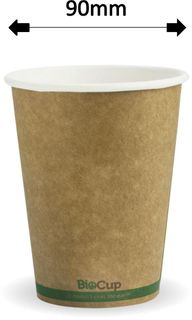 12oz GREEN STRIPE SINGLE WALL CUPS (1000