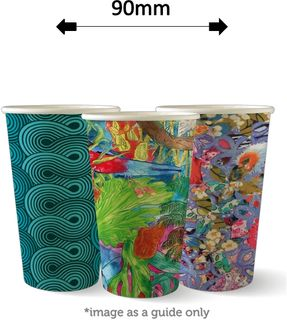 16oz SINGLE WALL ART COFFEE CUPS (1000)