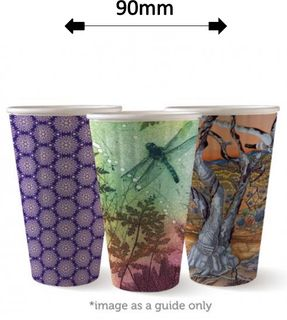 16oz DOUBLE WALL ART COFFEE CUPS (40)