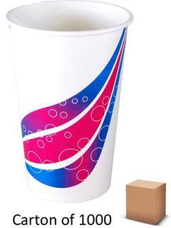 22oz PAPER MILKSHAKE CUPS 625ml (1000)