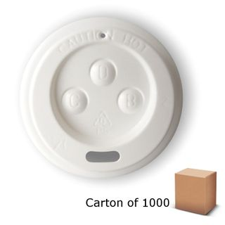 WHITE LIDS TO SUIT 4oz PAPER CUP (1000)