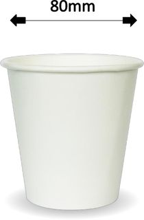 6oz WHITE SINGLE WALL COFFEE CUPS (1000)