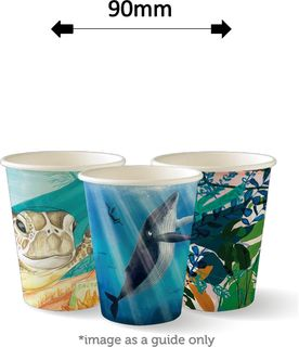 8oz SINGLE WALL ART COFFEE CUPS (1000)