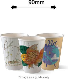 8oz DOUBLE WALL ART COFFEE CUPS (50)