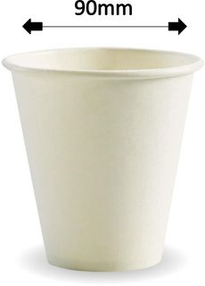 8oz WHITE SINGLE WALL COFFEE CUP (1000)