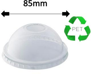 SMALL DOME LID SUITS 8oz-12oz CUPS (50)