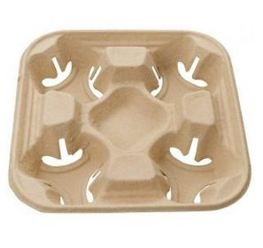 4-CUP RECYCLED C/BOARD CUP TRAY (100)