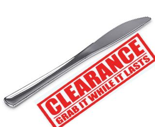 CLASSIC KNIFE(STAINLESS LOOK) 20 PER PKT