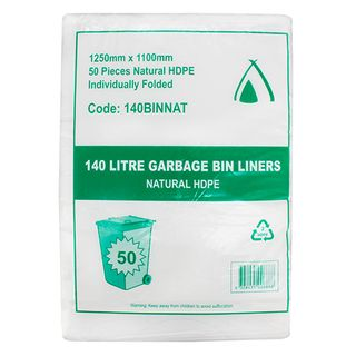 140L NATURAL GARBAGE BAGS HEAVY DUTY 200