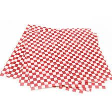 1/4 GREASEPROOF RED GINGHAM 30x19cm (200