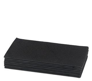 BLACK RF DINNER QUILTED NAPKINS (1000)