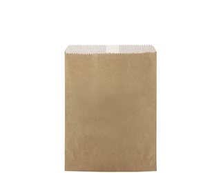 1LB FLAT BROWN GREASEPROOF 200X140 (500)