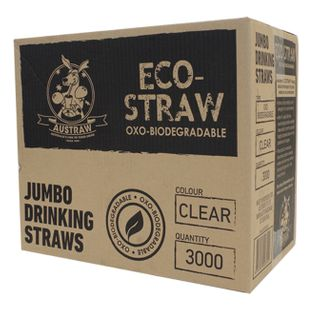 CLEAR OXO BIO JUMBO STRAWS (3000 CTN)