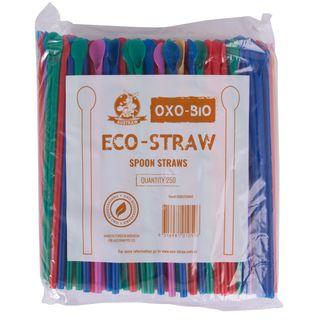 SPOON STRAWS OXO BIO MIX COLOURS (2500)