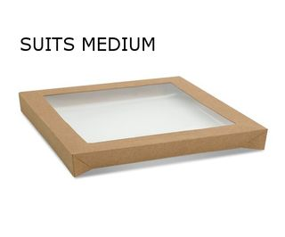 KRAFT LID TO SUIT CATERING TRAY-MED (100