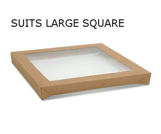 SQUARE KRAFT LID SUIT CATER TRAY-LGE(100