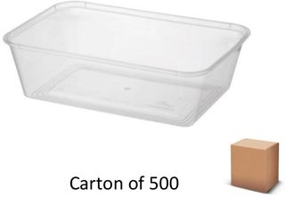 650ml RECT PLASTIC CONTAINERS (500)