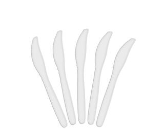 WHITE PLASTIC KNIVES (100 P/PKT)