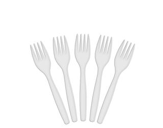 WHITE PLASTIC FORKS (100 PER PKT)