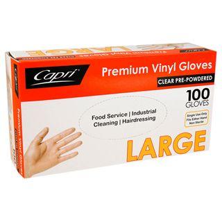 LARGE PREMIUM VINYL GLOVE (100 P/PKT)