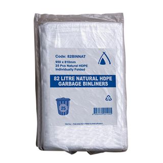NATURAL 82 LITRE GARBAGE BAGS (250 CTN)