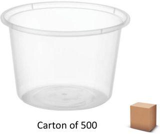 20oz ROUND PLASTIC CONTAINERS 530ml (500