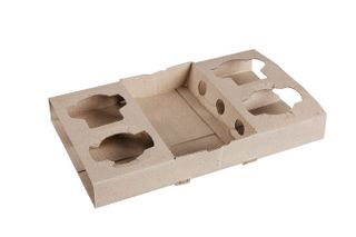 CARDBOARD CUP CARRY TRAY(4 OR 2 CUPS)100