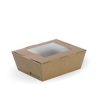 MED LUNCH BOX W/WINDOW 152x120x64(200CTN
