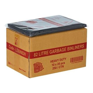 EXTRA HEAVY DUTY 82L GARBAGE BAGS (250)