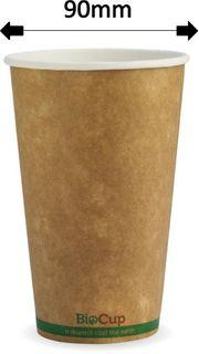 16oz GREEN STRIPE SINGLE WALL CUPS (1000