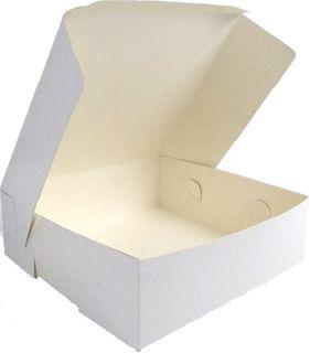 CAKE BOX 350x350x150 MILKBRD 14X14X6 50