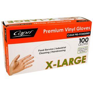 EXTRA LARGE PREMIUM VINYL GLOVE (100)