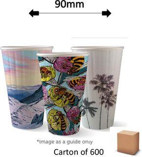 16oz DOUBLE WALL ART COFFEE CUPS (600)