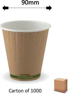 8oz GREEN STRIPE DOUBLE WALL CUPS (1000)